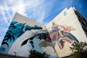 San Jose Celebrates the Sharks with Jaw-Dropping Mural
