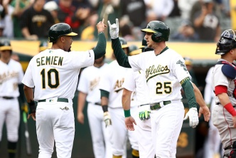 Piscotty Leads A's to Series Win Over Red Sox