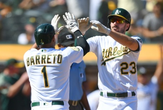 Piscotty Homers, A's Keep Rolling With 7-3 Win Over Rangers