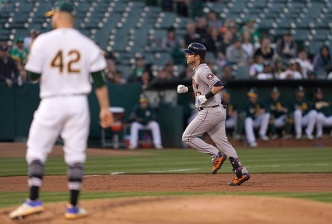 A's Bats Silenced in Lopsided Loss to Astros