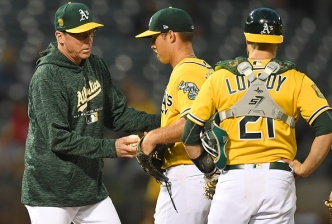 Mengden Lit Up in A's Series-Opening Loss to Astros