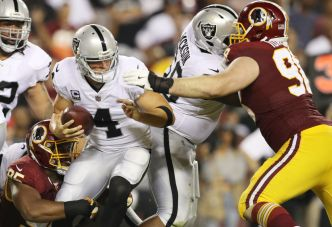 Raiders Offensive Line Has Rare Off Night