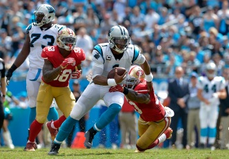 Panthers' Benjamin, Olsen Punish 49ers in Loss