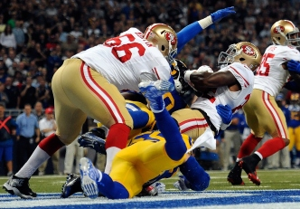 Niners Get Pushed Around in St. Louis