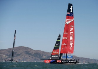 New Zealanders Enjoying Bay Area During America's Cup