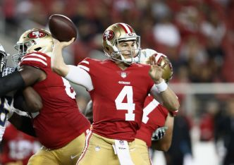 For Now, 49ers Are Going With Mullens as No. 2 Quarterback
