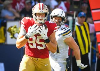 Kittle Is on Track to Joining 49ers' Best Tight Ends