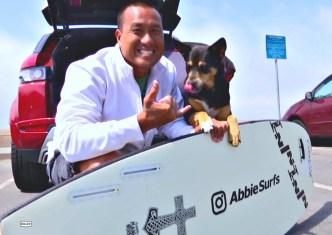 BBC Newsreader Challenged to a Dog vs. Man Surf-Off
