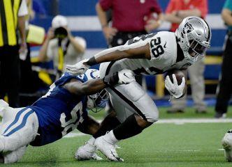Raiders' Jacobs Ranks as NFL's Top Rookie So Far