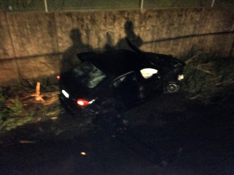 Two Injured After Car Plunges into Santa Rosa Creek, Driver Flees Scene