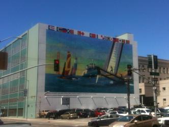 America's Cup Mural Dedicated to Fallen Sailor