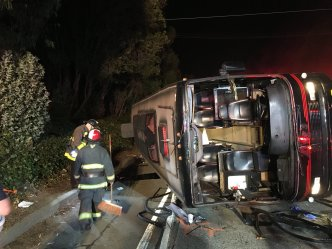 Bus Overturns on Hwy 101 in SF Injuring 29 Passengers