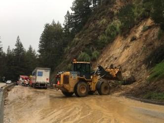 Mudslides, Fallen Trees Wreak Havoc on Highway 17
