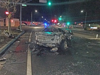 One Person Killed in Fiery Crash in Santa Rosa