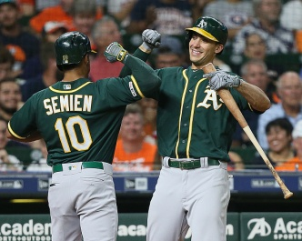 Semien, Anderson Lead A's to Second Straight Win Over Astros