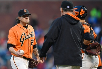 Peavy Hammered in Giants Loss to Cubs