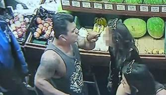 Caught on Camera: Man Sucker Punches Woman Outside Store