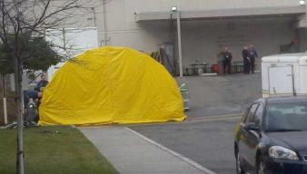 Regional Medical Center of San Jose Sets Up Flu Tent