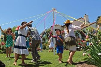 Healdsburg Garden Dance: Get Your Maypole On