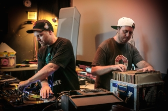 Sneak Peek DJ Shadow and Cut Chemist Spinning Bambaataa Records