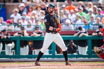 Parker, Belt Notch Two Hits in Giants' Win Over Padres
