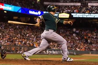 A's Rally Back From Two Deficits in Wild 13-11 Win Over Giants