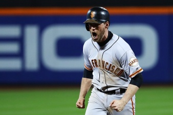 Late Heroics Lift Giants Over Mets in NL Wild-Card Game