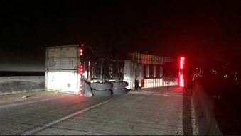 Overturned Truck Blocks Ramp From NB Hwy. 101 to EB Hwy. 92