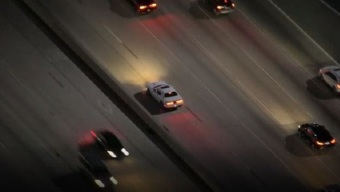 Burglary Suspects Drive Over 120 mph, Switch Off Lights During 5 Freeway Pursuit