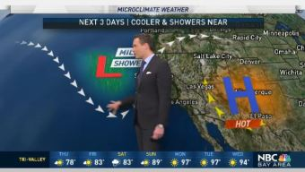 Jeff's Forecast: Cooling and NorCal Rain Chance