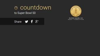 Super Bowl 50 Countdown