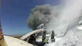 Helmet Cam Video Shows Aftermath of Asiana Crash