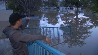 High Water Overwhelms San Jose Homes, Streets Along Coyote Creek
