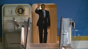 RAW VIDEO: President Barack Obama Arrives in Bay Area