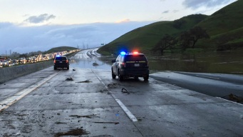Flooding Shuts Down Northbound Highway 101 in South Bay