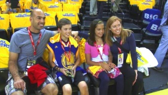 Aaron Hern Honored at Warriors' Playoff Game