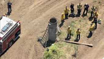 Firefighters Rescue Construction Worker Stuck Inside Pipe