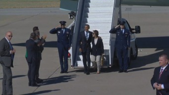 President Barack Obama Arrives in Bay Area for Global Entrepreneurship Summit at Stanford University