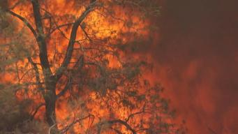 Wildfire in Mariposa County, Near Yosemite, Spreads to 75 Square Miles