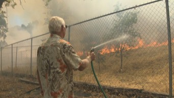57-Acre Grass Fire Prompts Evacuations in Vacaville