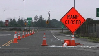 Waterlogged Highway 37 Closed Yet Again Between Highway 101 and Atherton Avenue