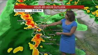 Sunday's Forecast: Two Systems Dump Rain on Bay Area