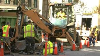 Crews Repair Water Main Break in San Francisco