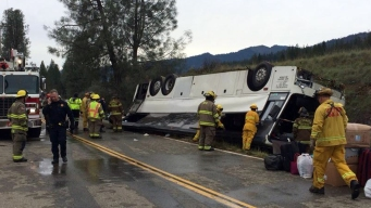 1 Dead, Dozens Injured in Calif. Bus Crash: CHP