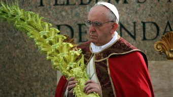 Pope Francis Leads First Palm Sunday Service