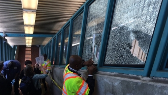 Man Smashes Windows at BART Station with Golf Clubs