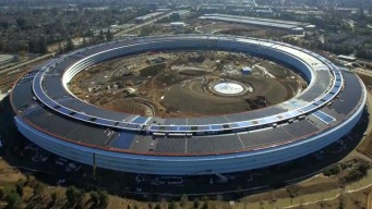 Drone Footage Captures Final Touches to Apple Campus 2