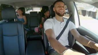 Steph Curry and Daughters Riley, Ryan Drive Around Singing 'Hamilton'