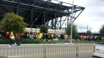 Skirmish Breaks Out Near Avaya Stadium Before Friendly Soccer Match Between Two Clubs from Mexico