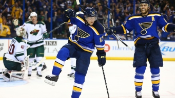 Wild Opens Playoff Series With 4-2 Victory Over Blues
